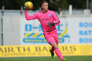 Forfar Athletic goalkeeper Marc McCallum. Pic: Michael Gillen