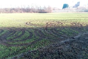 Denfield Park has been churned up by quad bikers