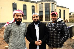 Imam Hafiz Muhammad Shoaib, Imam Mansoor Mahmood and Mohammed Khalid. Pic: Fife Photo Agency.