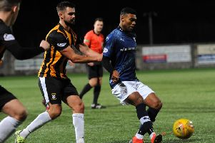 Joao Victoria in action recently for Raith Rovers against East Fife (Fife Photo Agency).
