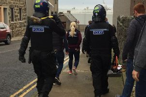 Police officers take to the streets of Peterhead as part of the operations