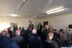 The audience included Bertie Armstrong, chief executive of the Scottish Fishermens Federation (SFF) and Jimmy Buchan, business manager of the Scottish Seafood Association