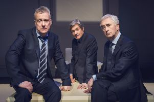Stephen Tompkinson, Nigel Havers and Denis Lawson will star in ART at His Majesty's Theatre in March.  (Photo: Matt Crockett)