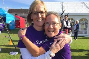Peterhead Relay for Life vice chair Joyce Cameron and chair Lorraine Coleman