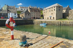 Portsoy harbour provided the filming location for the Hollywood remake of Compton McKenzies book, Whisky Galore.