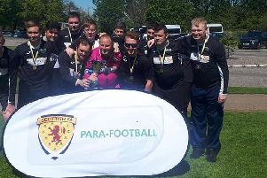 Dalkeith Thistle CFC Pan Disability Scottish Cup winning team