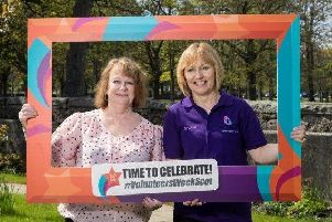 Margaret Watson, volunteer at CLAN Aberdeen, with Arlene Cooper, volunteer at CLAN Crimond