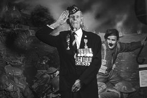We salute you, sir. Private James 'Jim' Glennie landed at Sword Beach on D-Day with the 51st Highland Division of the Gordon Highlanders. (Pic: Wattie Cheung)