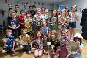 Cupar and District Swimming Club end of season party.