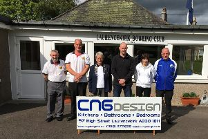 The winners and runners up with CNG Design's Managing Director, Chris Graham and Laurencekirk President, Margaret McNicoll.