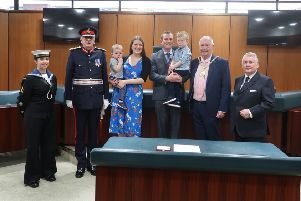 Adam Black received his British Empire Medal at a ceremony earlier this month.