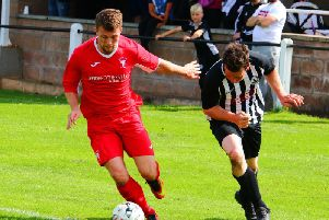 James Martin (left) had a fine game for Lanark at Kello (Pic by Billy Quigley)