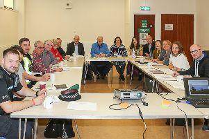 A recent meeting of the Templehall Neighbourhood Development Partnership