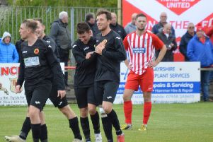 Rossvale goal celebrations at Hurlford (pic: HT Photography/@dibsy_)