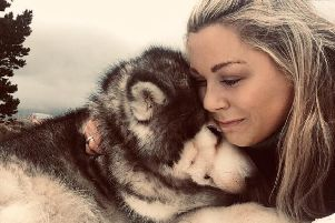 Ashley Mackie with her beloved Alaskan Malamute Maggie May