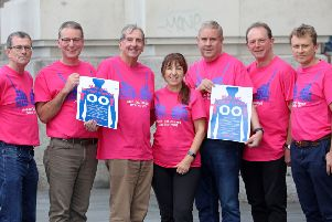Breast cancer charity Walk the Walk has joined forces with the Male Breast Cancer Coalition in the United States. The two charities are uniting in their mission to raise awareness that Men Get Breast Cancer Too. The UK charity recently launched a downloadable awareness poster, encouraging men to 'Check your Chest', to spot the signs of breast cancer. Men taking part in Walk the Walk's fundraising challenges wear a special pink t-shirt with a blue bra printed on it. For more about the cam paign go to https://walkthewalk.org/about-us/men-get-breast-cancer-too
