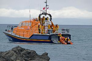 Portpatrick Lifeboat Week ended with a cliff rescue demonstration.