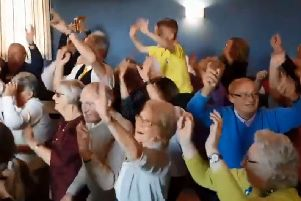 Scenes of pure joy as the Copshaw pensioners (and younger members of the community) let their hair down.