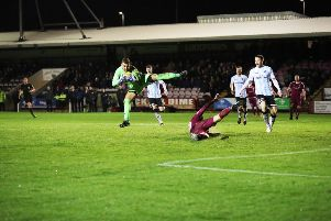 Arbroath 0 - 1 Stranraer - Max Currie flies through the air