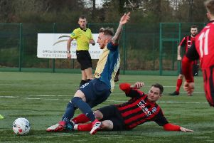 Dalbeattie Star in action against East Kilbride