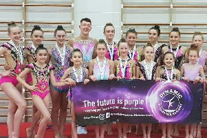 The Dynamic Gymnastics Academy squad members who competed with distinction in their home town against top opposition