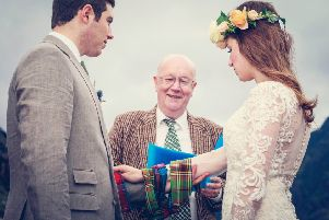 A humanist weddings in Scotland. Photo: The Humanist Society, Scotland