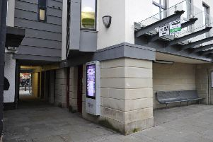 Public toilets in Kelso's town centre between Woodmarket and Horsemarket.