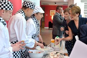 Some of the ASN students showed off their wares and skills in a marketplace styled event.