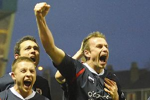 Mark Campbell was a commanding presence in the Raith defence between 2006 and 2011. Pic: Neil Doig