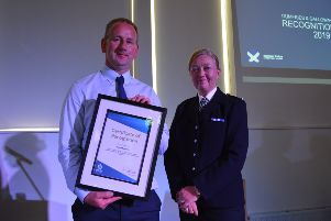 Constable McNeillie receives his award