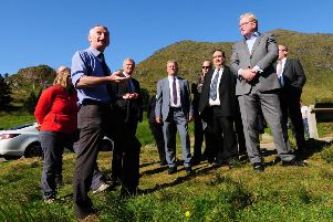 The Public Petitions Committee from the Scottish Parliament are shown improvements being made to the A83 Rest and be Thankful