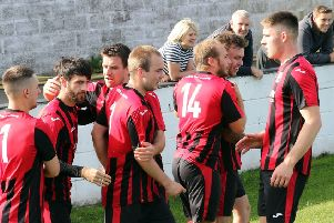 Celebrations for Dalbeattie Star after a goal at Gretna (pic courtesy of http://www.dalbeattiestar.co.uk)