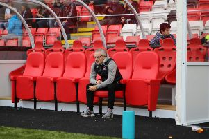Clyde boss Danny Lennon in thoughtful mood before Saturday's win over Stranraer (pic: Craig Black Photography)
