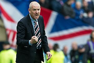 Mark Warburton was manager when Rangers last played Stranraer