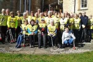 Members of Busby Parish Church and the local community took part in the clean up of their area.