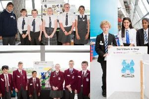 Teams from Mearns Primary School (above), St Ninians High (right) and Lourdes Secondary (below) took part in the Celebration of STEM challenge.
