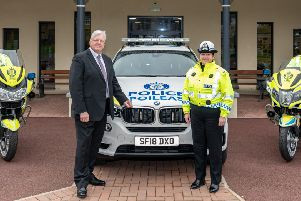 Michael McDonnell and Supt Louise Blackelock issued their safety message at the launch of the 2019 campaign. Picture: Jasperimage