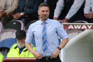 Stranraer manager Stevie Farrell (picture: Graham Black)