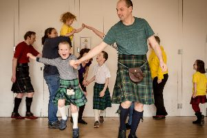 The Ceilidh Kids event at Carmichael Hall is a chance for all generations to enjoy the thrill of traditional Scottish dancing.