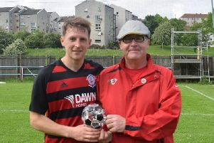 New Rossvale signing Joe Slattery received most Rob Roy Man of the Match awards last season