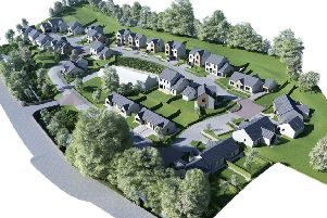 How houses proposed at the Croft, off Dingleton Road in Melrose, would look.