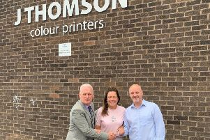 Stephen Docherty, Bell & Bain; Karen Baillie, Bell & Bain; and Kevin Creechan, J Thomson Colour Printers.