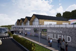 An artist's impression of the proposed changes at Hillend.