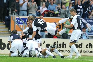 Ryan Flynn scored the Bairns' first European goal