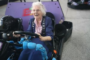 Scream if you want to go faster ... 95-year-old Ellen