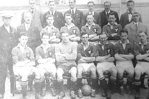 The Raith Rovers squad at the start of the 1922/23 season.