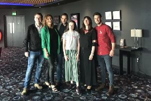Some of the cast from 'Keeping Mum' including Jane McGarry and Mark Cox