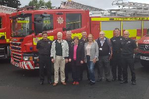 Councillors joined Amber Watch as the new appliances were unveiled at Glenrothes Fire Station