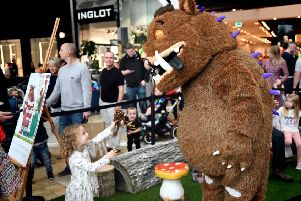 Young shoppers at Silverburn got a treat as the Gruffalo, made a guest appearance at the centre. (Photo by Paul Chappells).