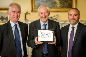 From left: the  Judges John Morton, Edmund Johnston and Robert Curle, Director Business Banking, The Royal Bank of Scotland